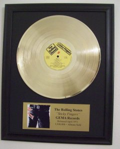 "Rolling Stones 12"" Gold Disks"