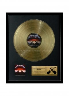 "Metallica 12"" Gold Disks"