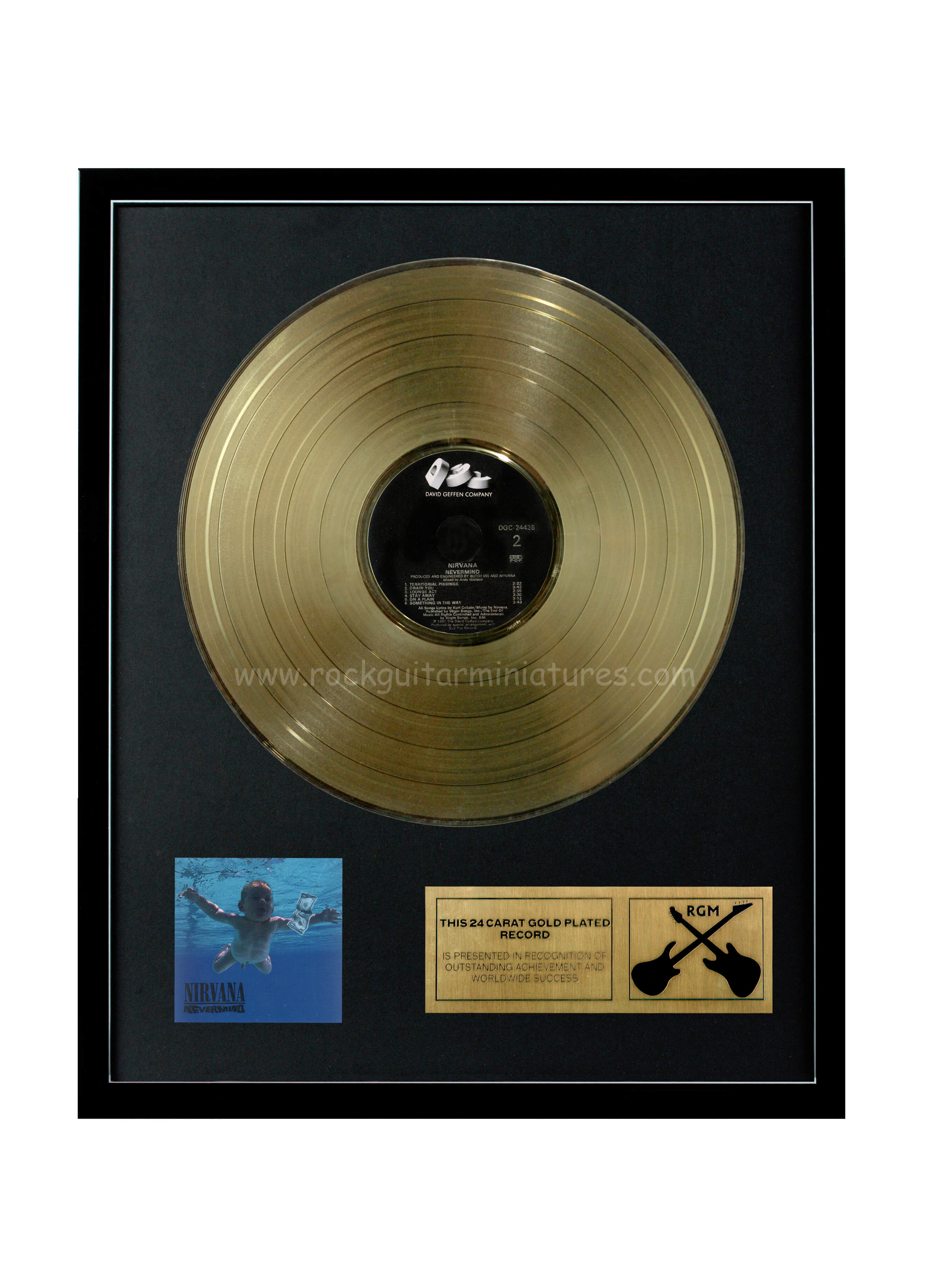 Nirvana Nevermind Gold Disc 24k Plated Lp 12 Quot